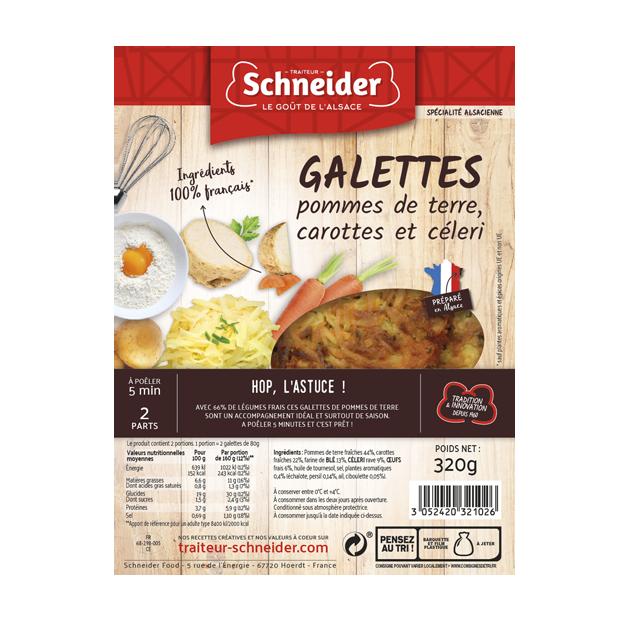 Galettes de pommes de terre aux légumes