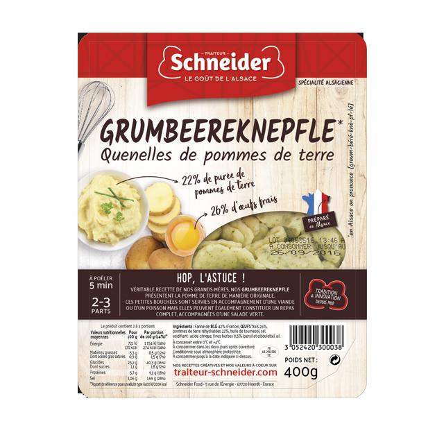 Grumbeereknepfle : quenelles de pommes de terre alsaciennes