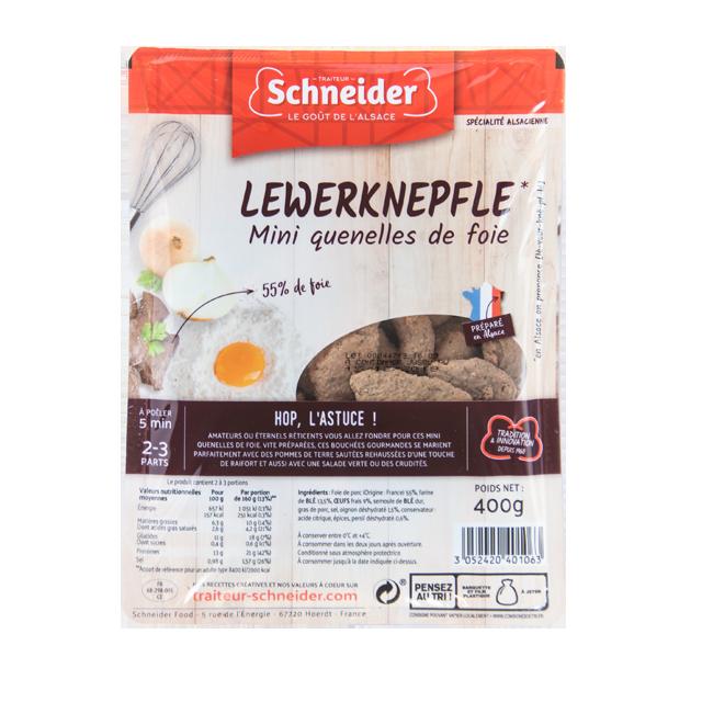 Lewerknepfle : mini quenelles de foie alsaciennes