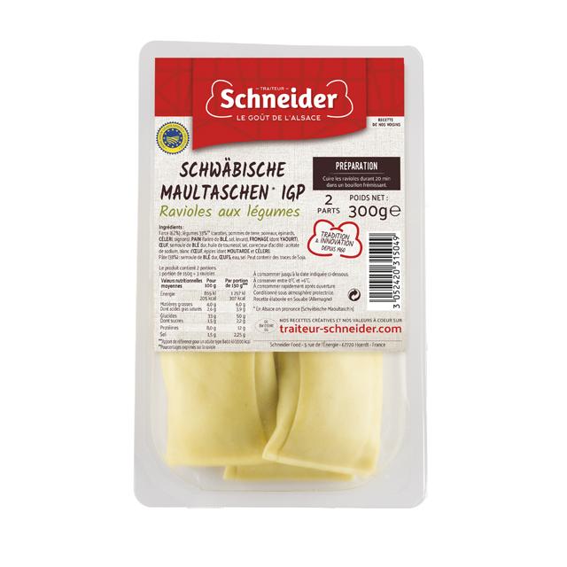Maultaschen : pâtes farcies allemandes aux légumes