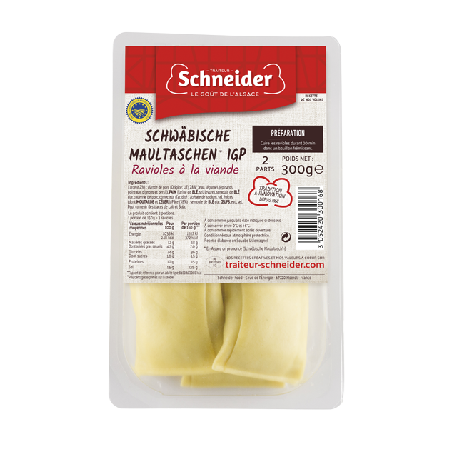 Maultaschen : pâtes farcies souabes à la viande IGP