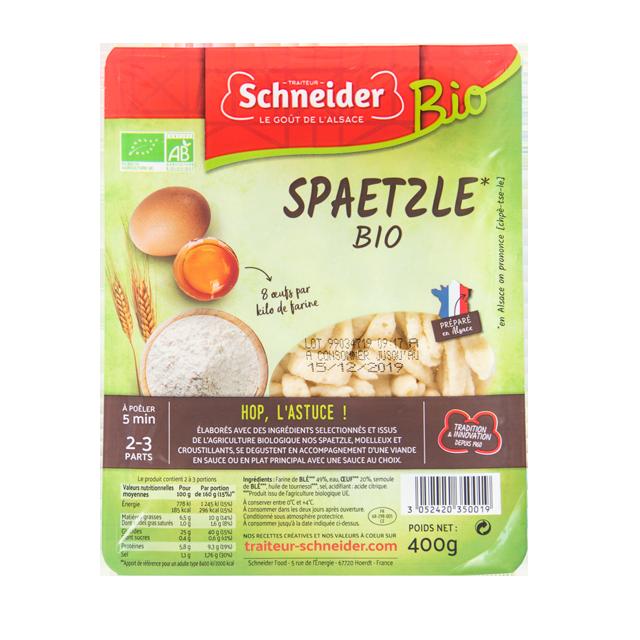Spaetzle bio : pâte fraîche aux oeufs alsacienne